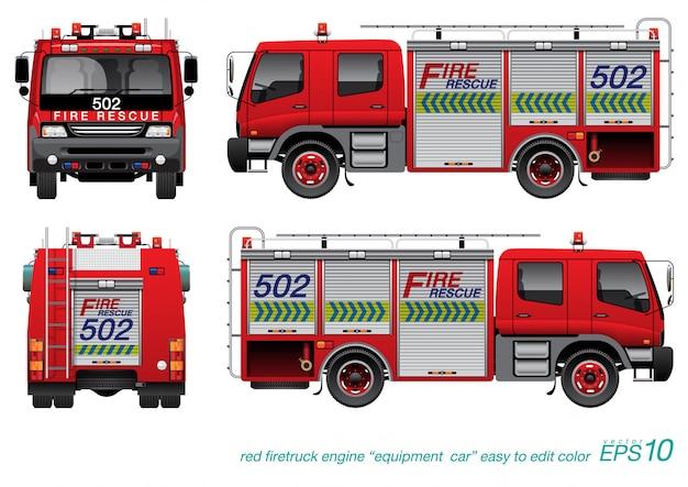 Camion de secours incendie