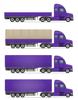 Camion semi-remorque pour le transport de marchandises vector illustration