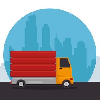 Camion tombereau de véhicule de construction