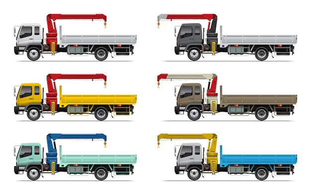 Camion de transport avec grue