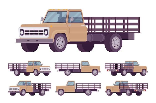 Camion vide beige