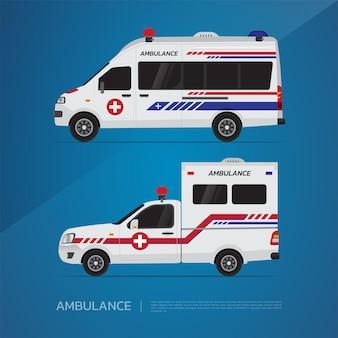 La camionnette ambulance et ambulance