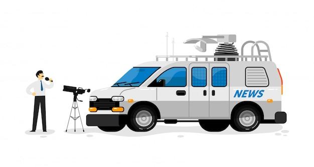 Camionnette de diffusion. diffusion