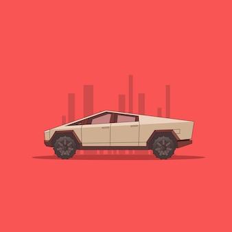 Camionnette futuriste