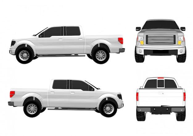 Camionnette de vecteur