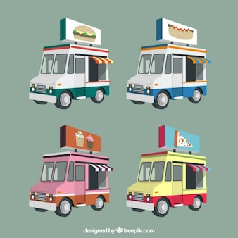 Camions alimentaires en 3d pack