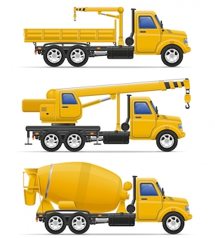 Camions de fret destinés à l'illustration vectorielle de construction