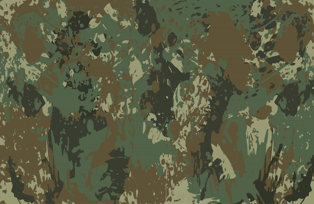 Le camouflage éclabousse le fond