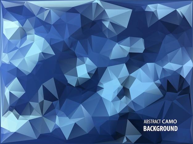 Camouflage militaire abstrait fait de formes de triangles géométriques camo
