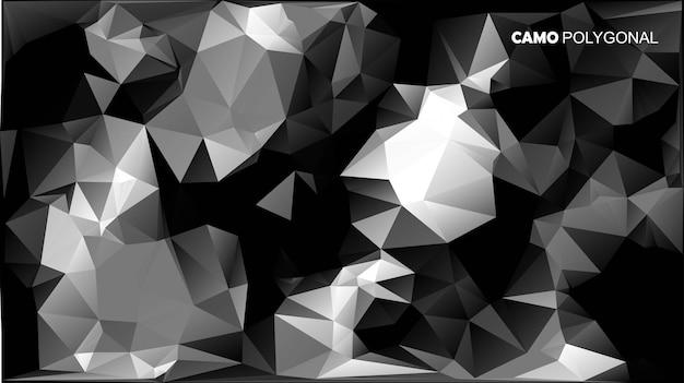 Camouflage militaire abstrait fait de formes de triangles géométriques. illustration.