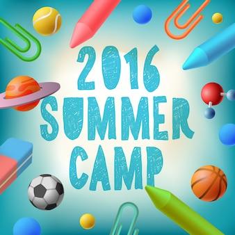 Camp d'été 2016, affiche thématique