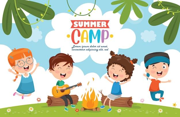 Camp d'été enfants