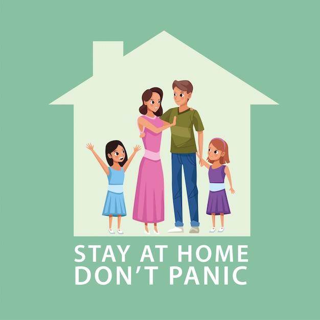 Campagne de couple à la maison pour les parents avec leurs filles