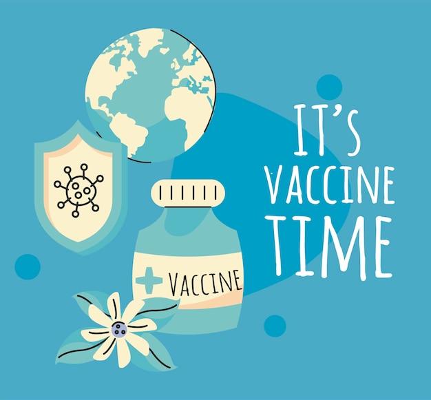 Campagne du temps des vaccins