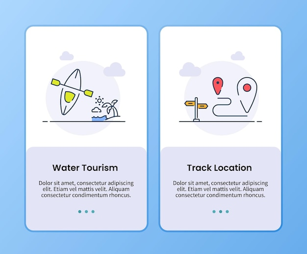 Campagne de localisation de piste de tourisme nautique pour le modèle d'embarquement