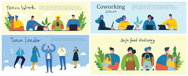 Campagne de marketing, illustration de concept d'entreprise au design plat moderne.