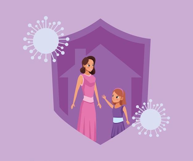 Campagne mère-fille à la maison