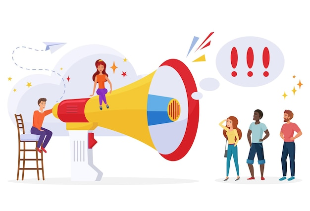 Campagne promotionnelle de diffusion d'annonce de concept de publicité de gestion de pr