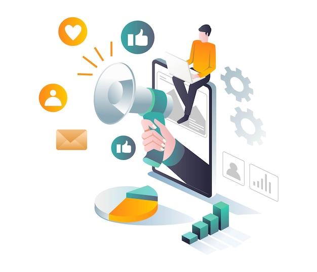 Campagne avec stratégie de médias sociaux