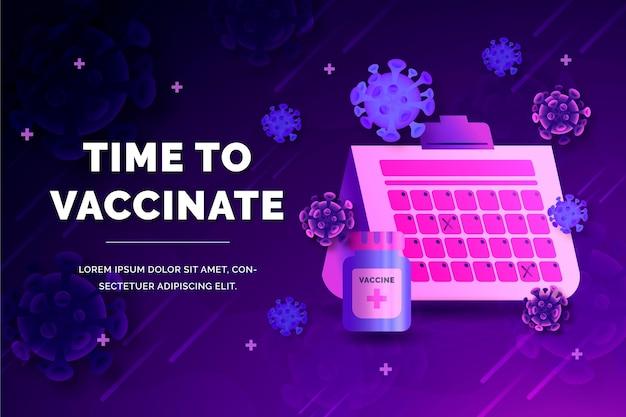 Campagne de vaccination en dégradé