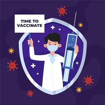 Campagne de vaccination à plat bio