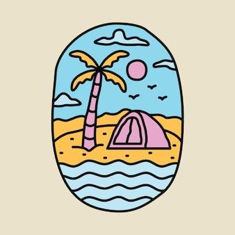 Camping aventure et beauté été graphique illustration vectorielle conception de t-shirt art