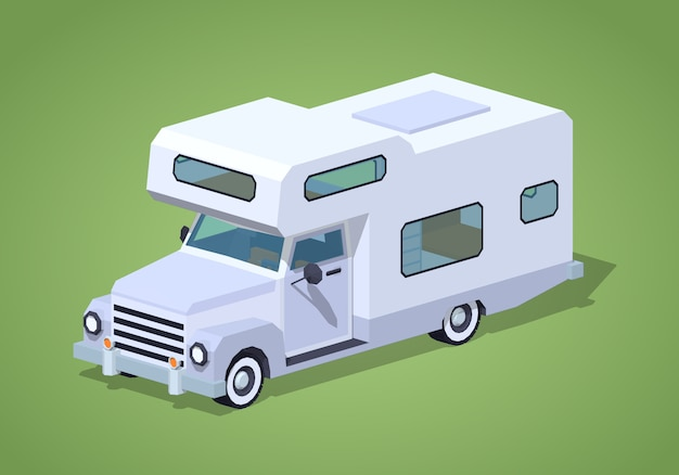 Camping-car blanc