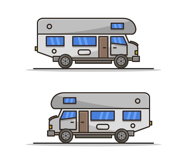 Camping-car de dessin animé