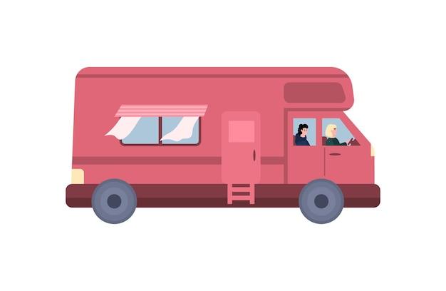 Camping-car moderne pour les voyages en famille