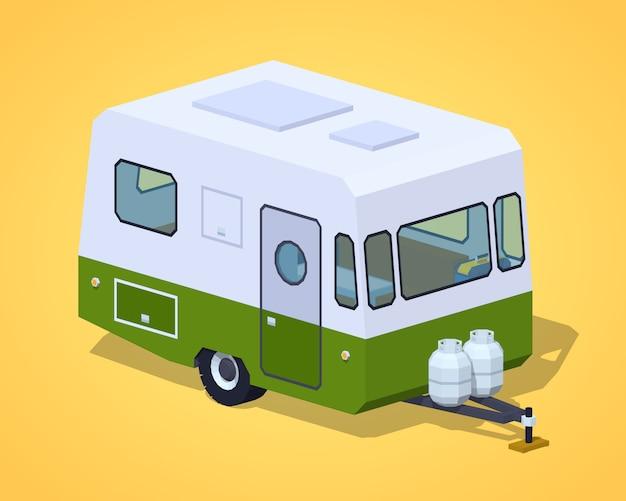 Camping-car rétro poly faible