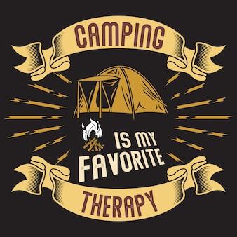 Le camping est ma thérapie préférée