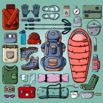 Camping icônes définies