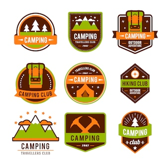 Camping plat sertie de matériel de randonnée et de cuisson en plein air