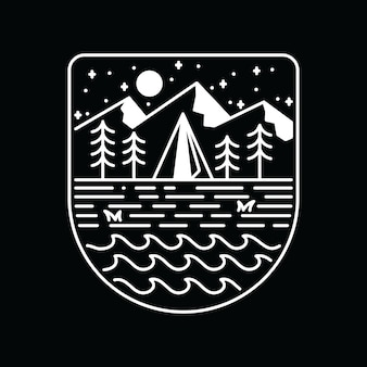Camping randonnée escalade nature aventure graphique illustration art t-shirt