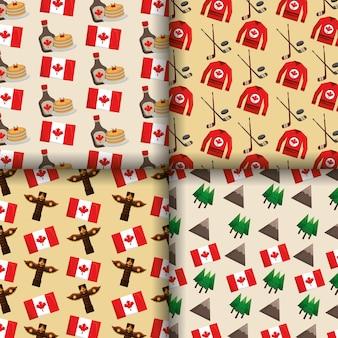 Canada bannières tradition symboles drapeau totem pin hockey