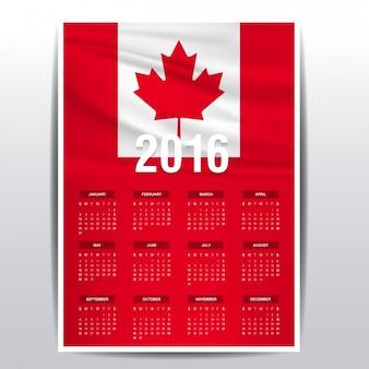 Canada calendrier 2016