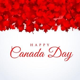 Canada day background avec des feuilles d'érable