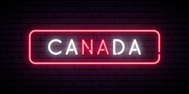 Canada enseigne au néon.
