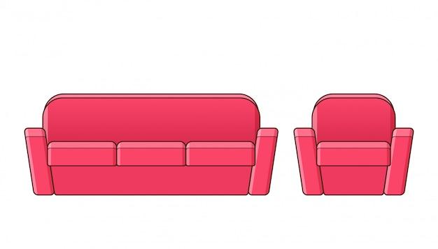 Canapé, canapé, illustration de fauteuil