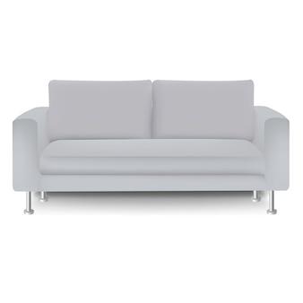 Canapé-lit avec fond blanc isolé