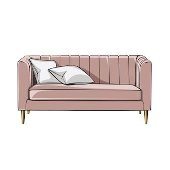 Canapé meuble de salon minimaliste
