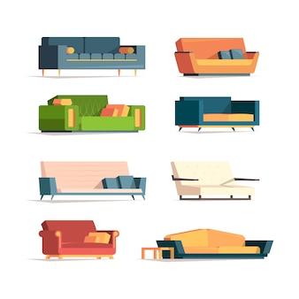 Canapé plat. meubles moelleux divan canapé canaps collection de fauteuils de luxe
