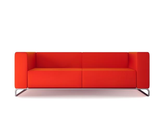 Canapé rouge isolé