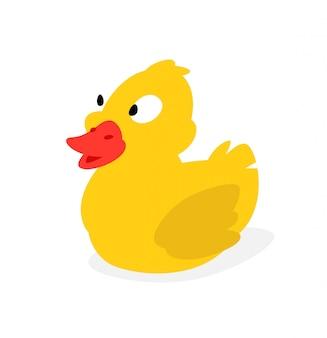 Canard en caoutchouc jaune