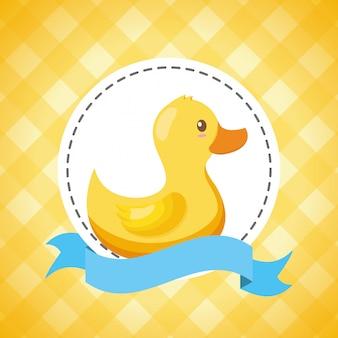 Canard en caoutchouc pour carte de naissance
