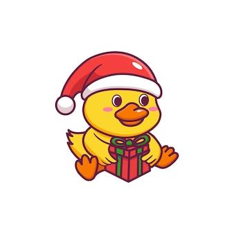 Le canard mignon fête noël