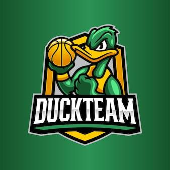 Canard avec modèle de logo de basket-ball