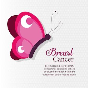 Cancer du sein papillon rose