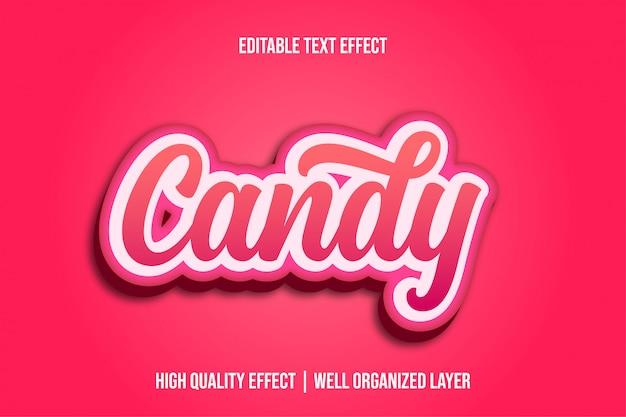 Candy, pinky style d'effet de texte modifiable mignon