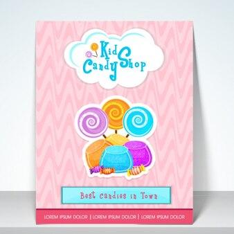 Candy shop brochure modèle